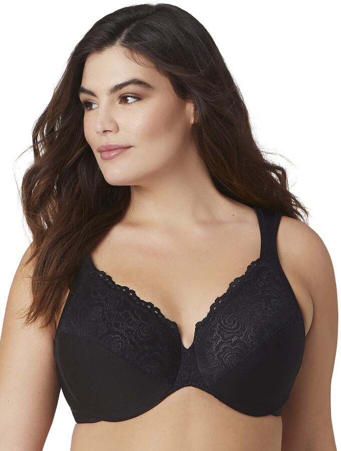 Thumbnail for your product : Glamorise Full Figure Plus Size Wonderwire Back Close Bra #1240 Black