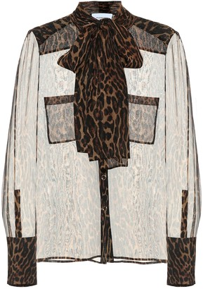 Burberry Leopard-print silk blouse