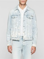 Calvin Klein Vintage Splatter Denim Trucker Jacket