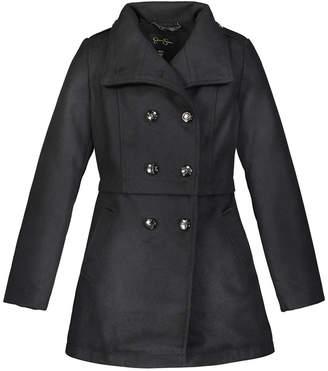 Jessica Simpson Big Girls Faux Wool Military Coat