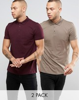 Asos 2 Pack Jersey Polo Shirt SAVE