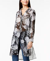 INC International Concepts I.n.c. Mixed-Print Tunic Blouse, Created for Macy's