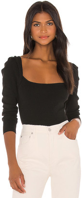 L'Academie Rory Puff Sleeve Sweater