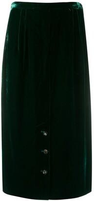 Valentino Pre-Owned 1980's Velvet Effect Gathered Skirt