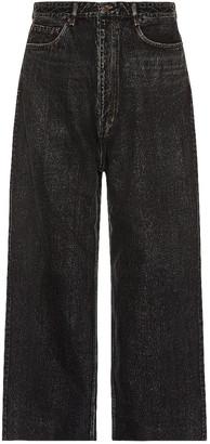 Balenciaga Baggy Trousers in Blue & Black   FWRD