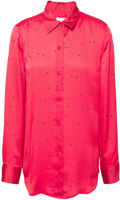 Equipment Essential Printed Washed-satin Shirt