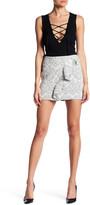 Maje Woven Ruffle Detail Skirt
