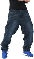 YOLLmart Men's Fashion Hip Hop Baggy Jeans Denim
