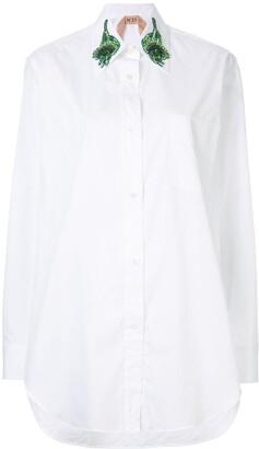 No.21 Embroidered Collar Shirt