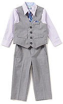 Starting Out Baby Boys 3-24 Months Gingham Shirt, Vest, Flat-Front Pants, & Tie 4-Piece Set