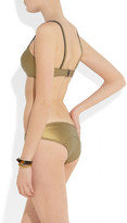 Lisa Marie Fernandez The Genevieve metallic rubber neoprene bikini