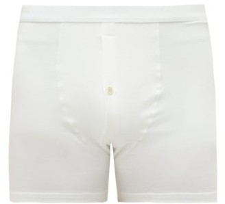 Hamilton And Hare - Pack Of Five Stretch-jersey Boxer Briefs - Mens - White