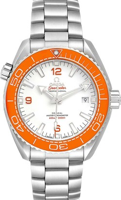Omega White Stainless Steel Seamaster Planet Ocean 600M 215.30.44.21.04.001 Men's Wristwatch 43.5 MM