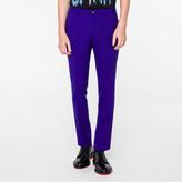 Paul Smith Men's Slim-Fit Indigo Wool-Hopsack Trousers