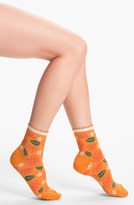 Hot Sox 'Citrus' Scallop Cuff Socks