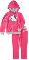 Weeplay Kids New Pink & Gray Velour Jacket & Pants - Toddler & Girls