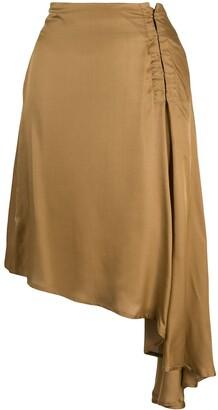 Ann Demeulemeester Asymmetrical Draped Skirt