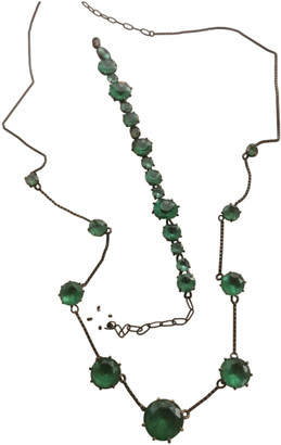 Les Nereides Green Metal Jewellery sets