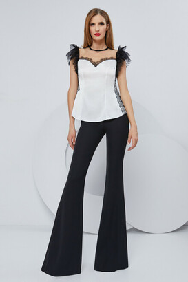 Cristallini Chantilly Lace Blouse and Trousers