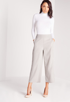 Missguided Cropped Wide Leg Pants Grey
