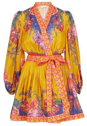 Zimmermann The Lovestruck Wrap Mini Dress