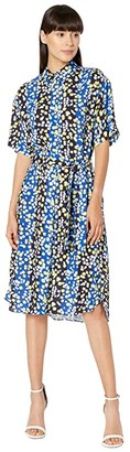 Paul Smith PS Floral Shirtdress (Cobalt) Women's Clothing