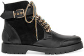 Burberry Leather And Suede Ankle Boots - Black