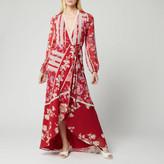 Hope & Ivy Women's Una Long Sleeve Maxi Wrap Dress