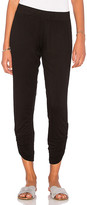 Michael Lauren Pablo Shirred Jogger in Black. - size L (also in M,S)