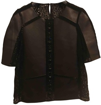 Tara Jarmon Black Leather Top for Women