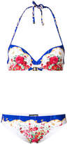 Dolce & Gabbana majolica print balconette bikini