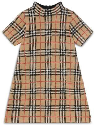 Burberry Kids Merino Wool Check Dress (3-12 Years)