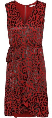 Alice + Olivia Brooks Leopard-print Burnout Chiffon Mini Dress