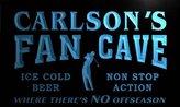 AdvPro Name tf1253-b Carlson's Golf Fan Cave Man Room Bar Beer Neon Light Sign