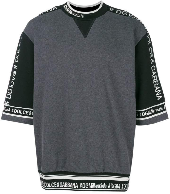 Dolce & Gabbana logo trim sweatshirt