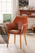 Urban Outfitters Nora Vegan Leather Saddle Chair