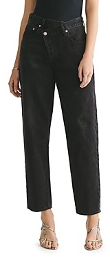 AGOLDE Criss Cross Cotton Straight Jeans in Savage