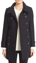 Burberry 'Daylesmoore' Wool Blend Double Breasted Trench Coat