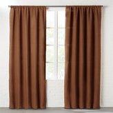 CB2 Dark Copper Linen Curtain Panel