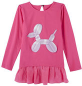 Andy & Evan Girls 2-6x Pink Balloon Dog Tunic Tee