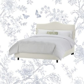Kelly Clarkson Home Smith Upholstered Standard Bed Size: Full, Color: White