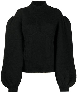 Fendi Knitted Corset-Detail Jumper