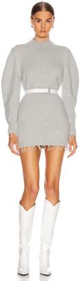 Alanui Balloon Sleeve Knit Dress in Grey | FWRD