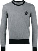 Dolce & Gabbana emblem jumper - men - Cotton - 46