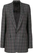 Maison Margiela shawl lapel checked blazer - women - Cotton/Viscose/Wool - 40