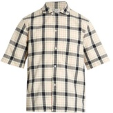 Acne Studios Elm short-sleeved checked cotton shirt