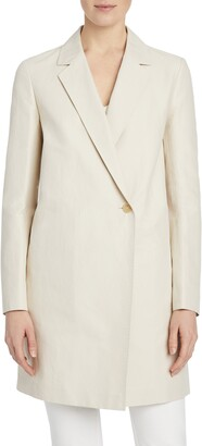 Lafayette 148 New York Emmalyse Cotton & Linen Coat
