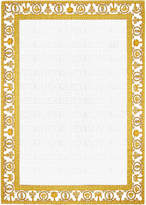 Versace Barocco & Robe Beach Towel - White/Gold