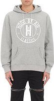 """Hood by Air Men's """"HBA Classics"""" Cotton-Blend Fleece Hoodie-GREY"""