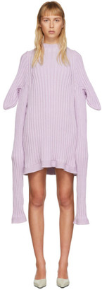 Christina SSENSE Exclusive Purple Knitted Shewee Dress